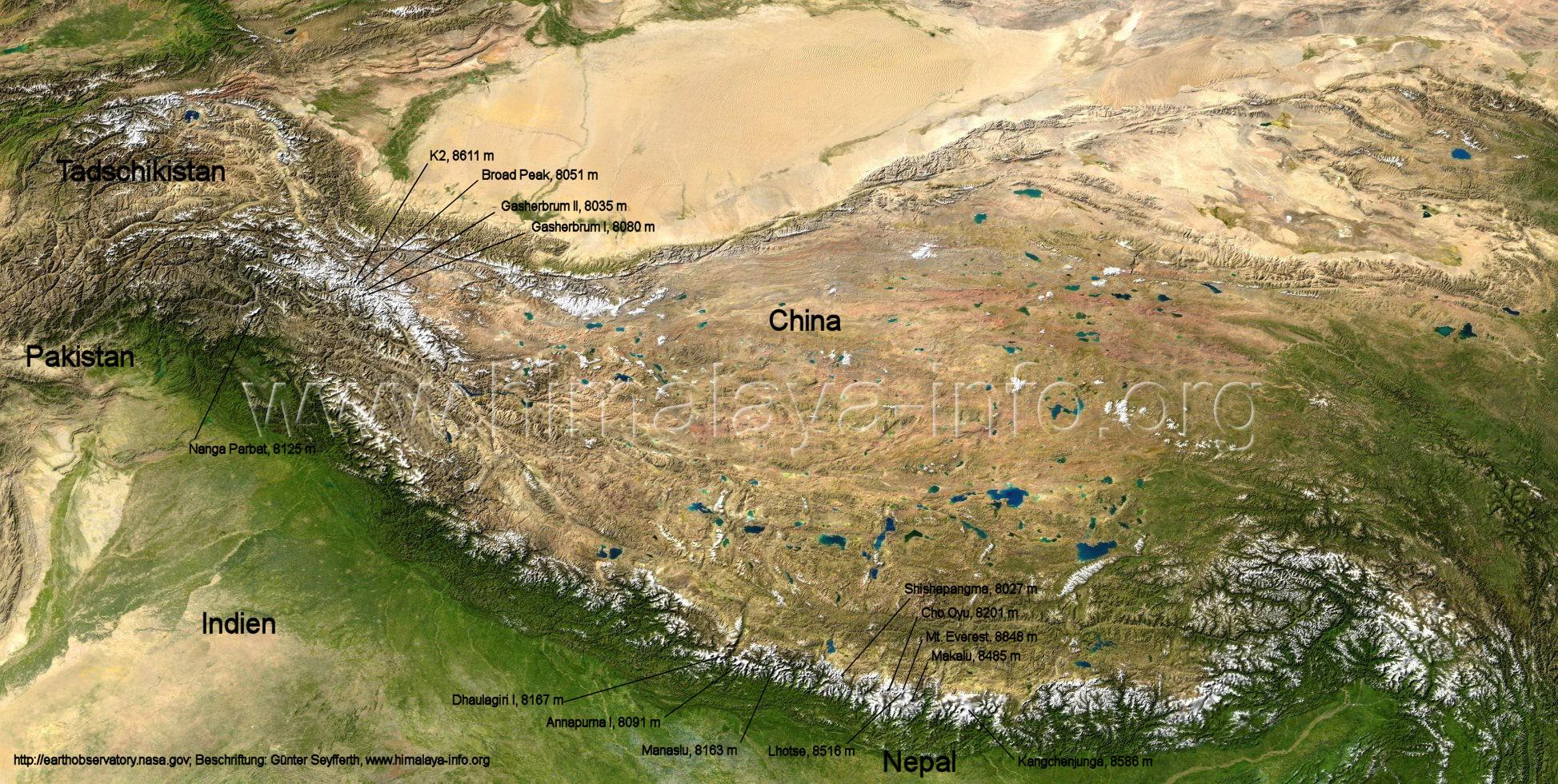 Gesamtuebersicht ueber den Himalaya